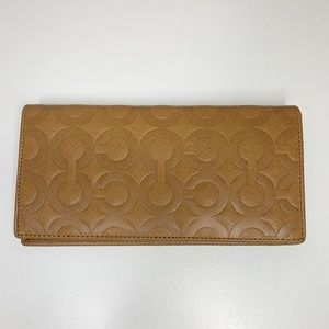 Coach leather bifold wallet